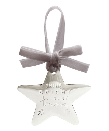 Mamas & Papas Forever Treasured Hanging Star - Silver