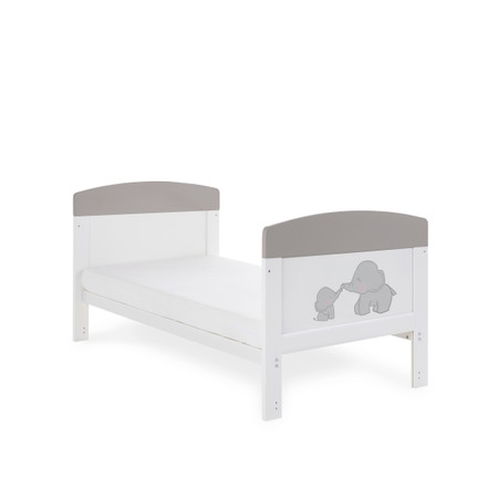 Obaby Grace Inspire Cot Bed - Me & Mini Me Elephants Grey