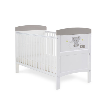 Obaby Grace Inspire Cot Bed - Hello World Koala