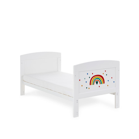 Obaby Grace Inspire Cot Bed - Rainbow Multicolour