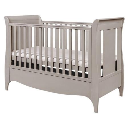 Tutti Bambini Roma Sleigh Cot Bed - Truffle Grey