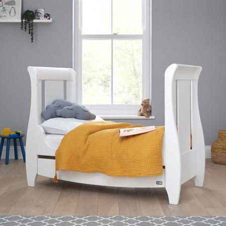 Tutti Bambini Katie Mini Sleigh Cot Bed - White