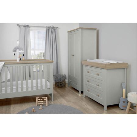 Mamas & Papas Keswick 3-Piece Range - Cool Grey/Oak