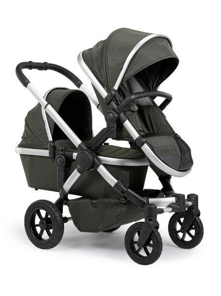 iCandy All Terrain Forest Double Multi Wheel - Combo Set & Upper CSA + Converter Base & Converter Adapters & 2nd Seat Fabric