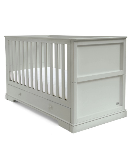 Mamas & Papas Oxford Wooden Cot & Toddler Bed with Storage - Stone Grey