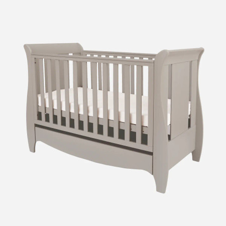 Tutti Bambini Roma Mini Sleigh Cot Bed - Truffle Grey