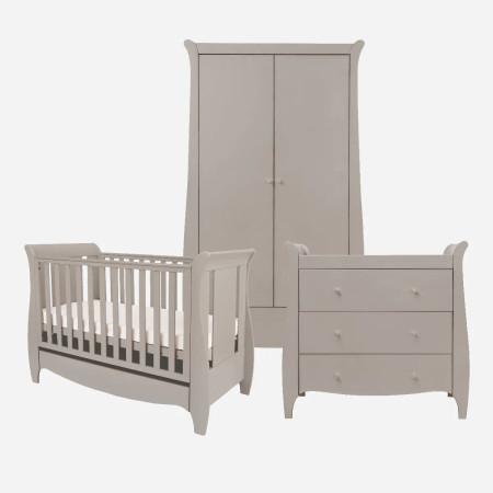 Tutti Bambini Roma Mini 3 Piece Room Set Truffle Grey