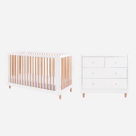 Tutti Bambini Siena 2 Piece Room Set  - White & Beech
