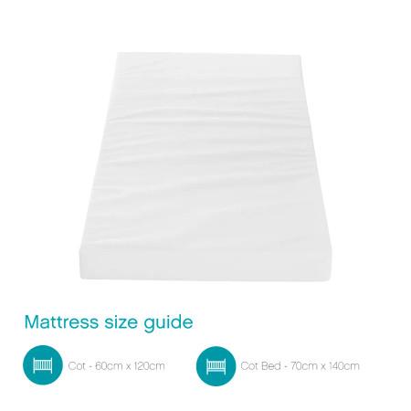 Tutti Bambini Eco Fibre Deluxe Cot Bed Mattress (70 x 140 cm)