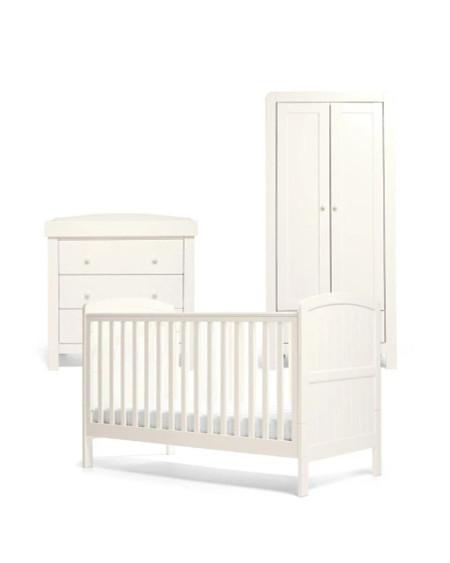 Mamas & Papas Dover Cot Set - White