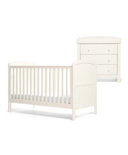 Mamas & Papas Dover Cotbed Set - White