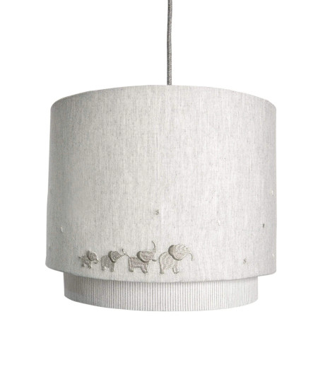 Mamas & Papas Welcome To The World Lampshade - White