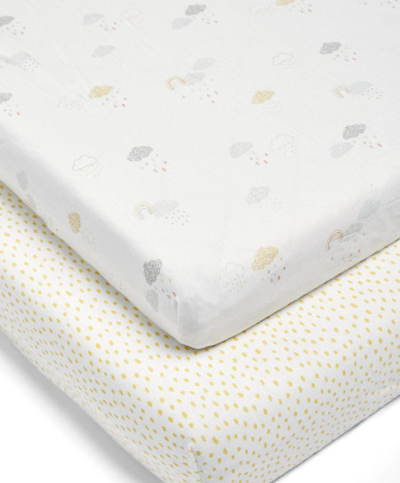 Mamas & Papas 2 Cot/Bed Fitted Sheets - DUAC