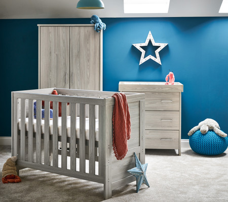 Obaby Nika Mini 3 Piece Room Set - Grey Wash