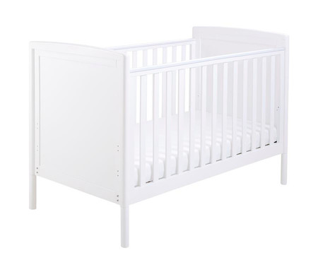 Babymore Milo Dropside Cot Bed - White