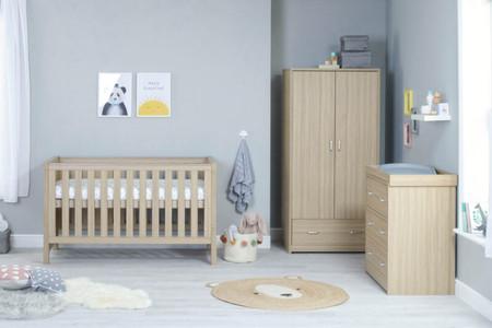 Babymore Luno Room Set 3 Piece - Oak