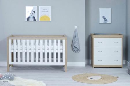Babymore Luno Room Set 2 Piece - White Oak