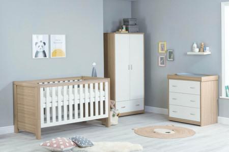Babymore Luno Room Set 3 Piece - White Oak