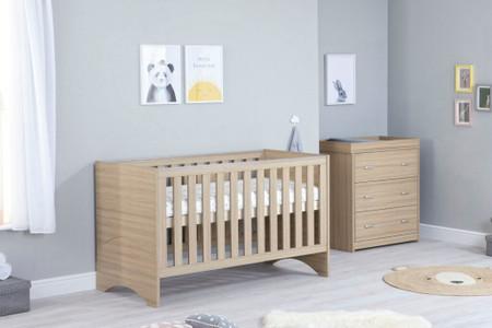 Babymore Veni Room Set 2 Piece - Oak