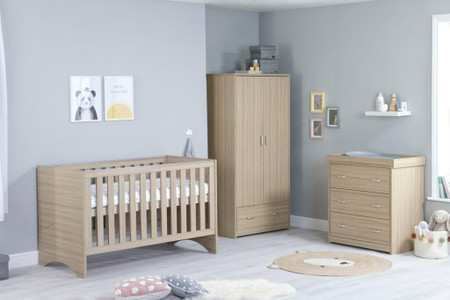 Babymore Veni Room Set 3 Piece - Oak