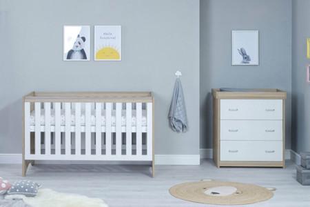 Babymore Veni Room Set 2 Piece - White Oak