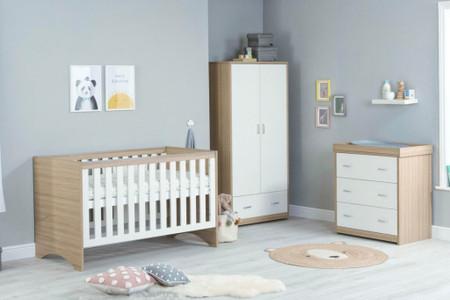 Babymore Veni Room Set 3 Piece - White Oak