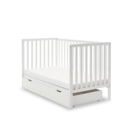 Obaby Bantam Cot Bed & Under Drawer - White