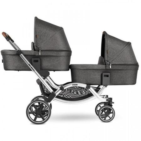 ABC Design Zoom Diamond Edition Tandem Pushchair + 2 Carrycots Bundle - Asphalt