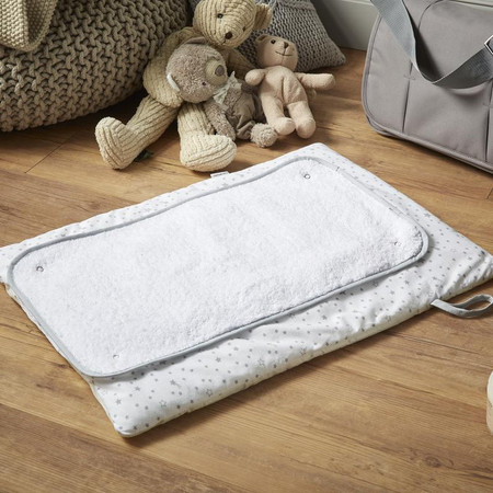 Clair de Lune Stars & Stripes Roly Poly Travel And Change Mat®  - Grey