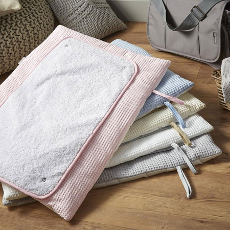 Clair de Lune Waffle Roly Poly Travel & Change Mat® - White