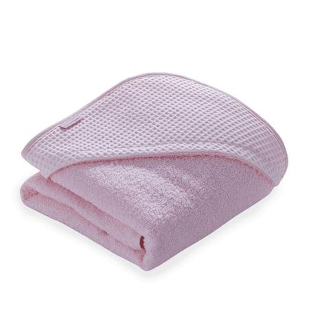 Clair de Lune Waffle Hooded Towel (0% VAT) - Pink