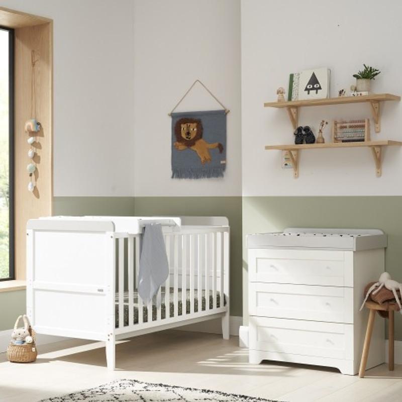 Tutti Bambini Rio 2 Piece Room Set - White/Dove Grey