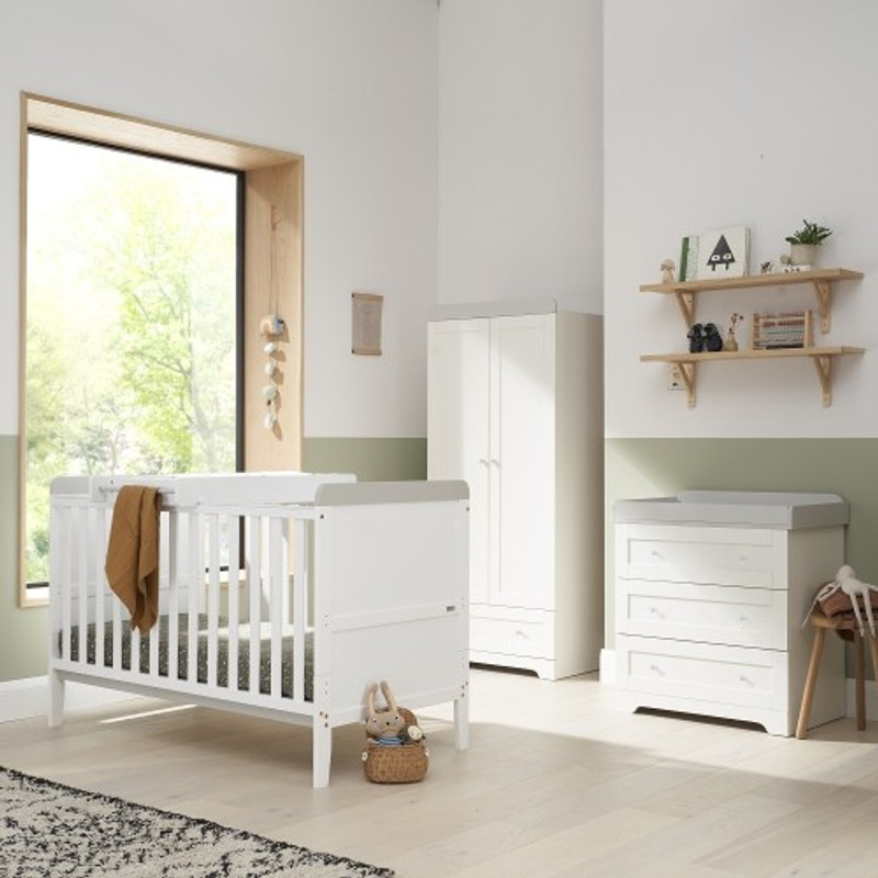 Tutti Bambini Rio 3 Piece Room Set - White/Dove Grey