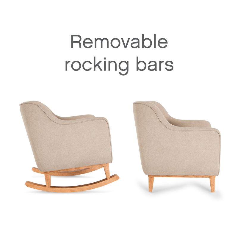 Tutti Bambini Noah Rocking Chair  – Stone