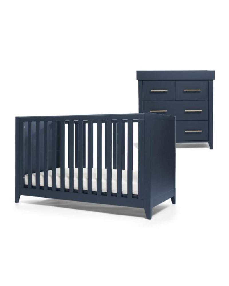 Mamas & Papas Melfi 2 Piece Cotbed Set with Dresser - Midnight