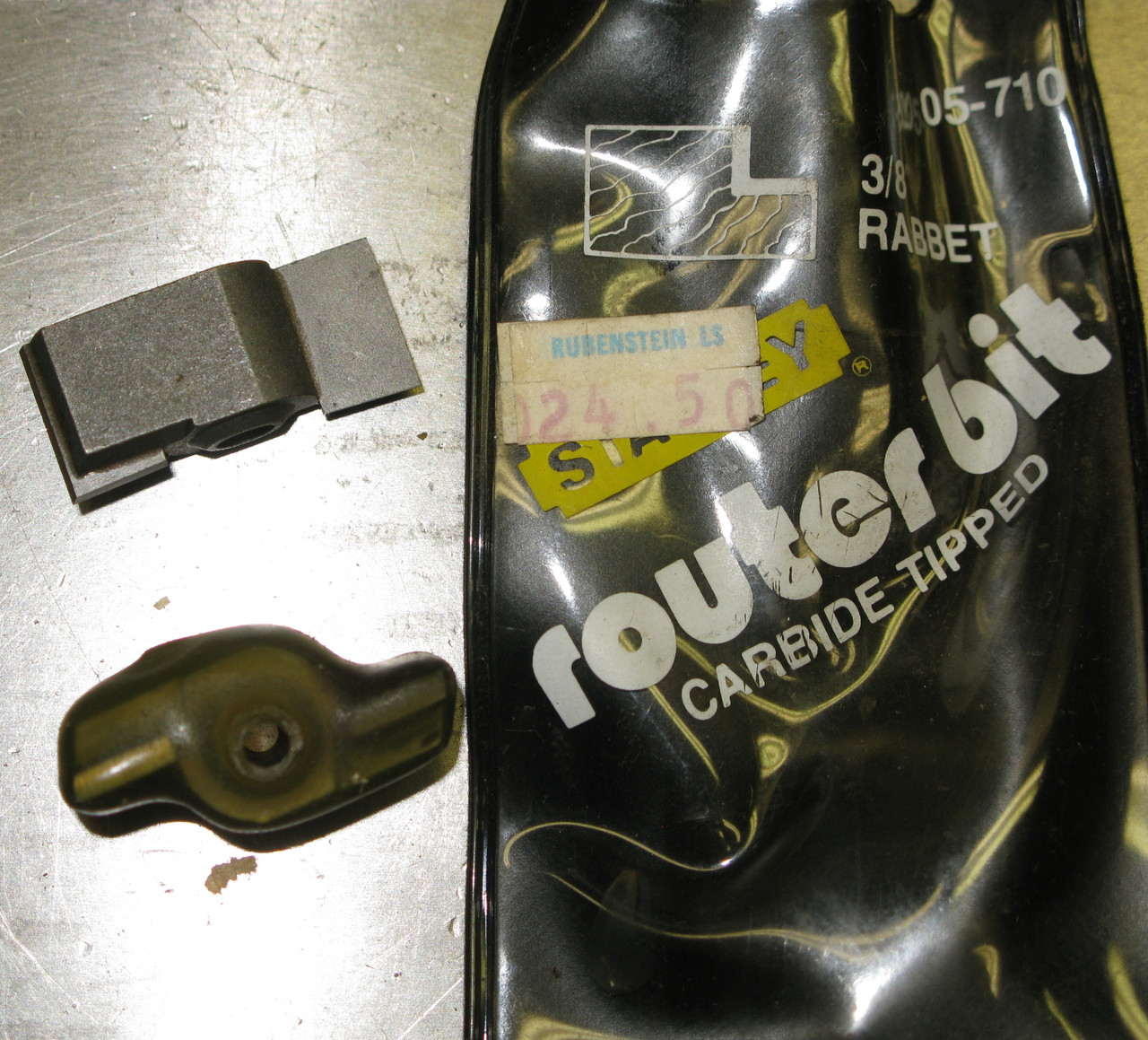 Stanley Router Bit 05-710 Rabbet, Carbide, 3/8 Inch, NOS USA