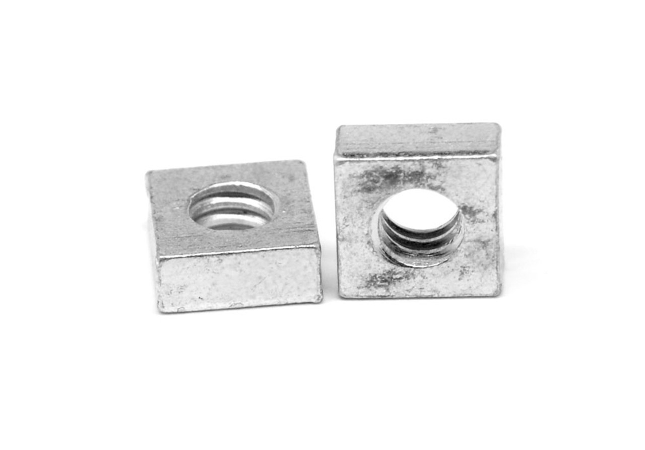 #10-32 Fine Thread Square Machine Screw Nut Low Carbon Steel Zinc Plated