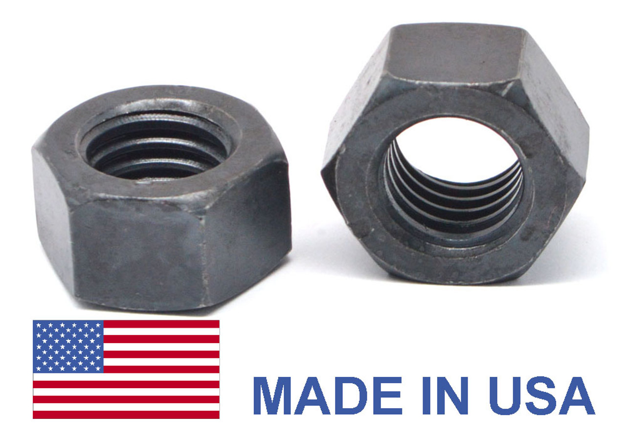 "5/16""-18 Coarse Thread Grade 8 Finished Hex Nut - USA Medium Carbon Steel Plain Finish"