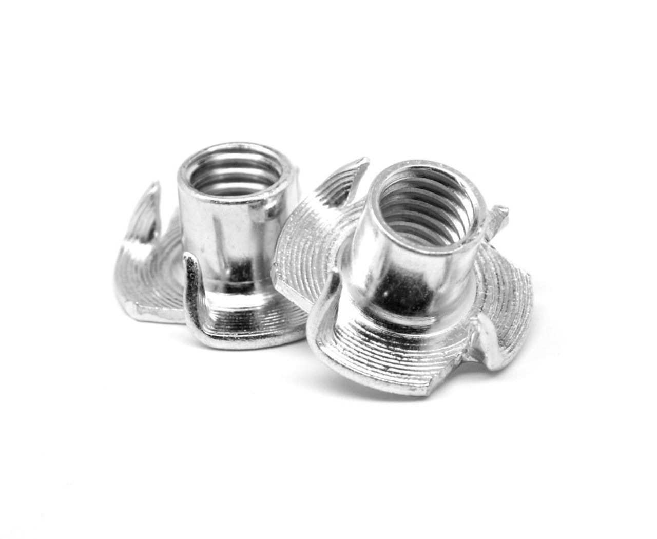 """5/16""""-18 x 3/8"""" Coarse Thread Tee Nut 4 Prong Low Carbon Steel Zinc Plated"""