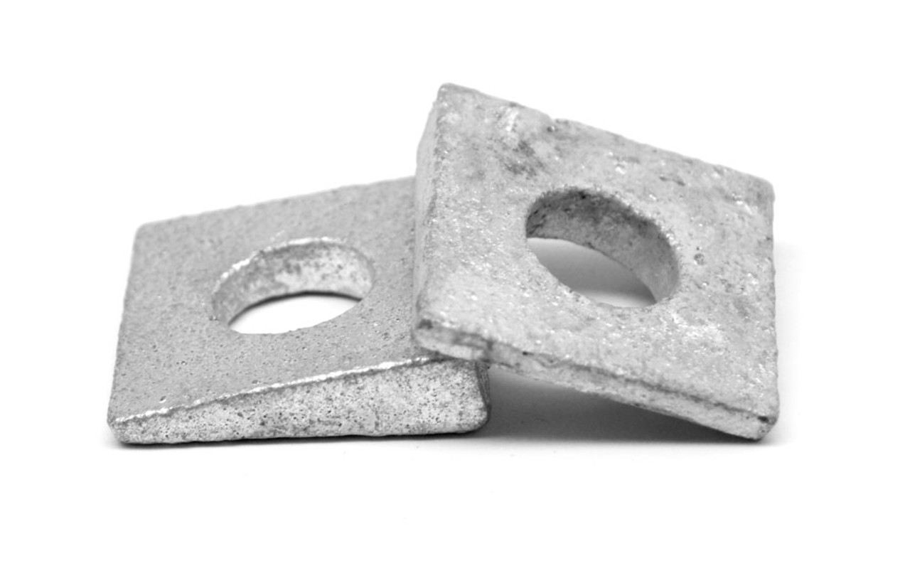 """3/8"""" Square Beveled Malleable Washer Malleable Iron Zinc Plated"""