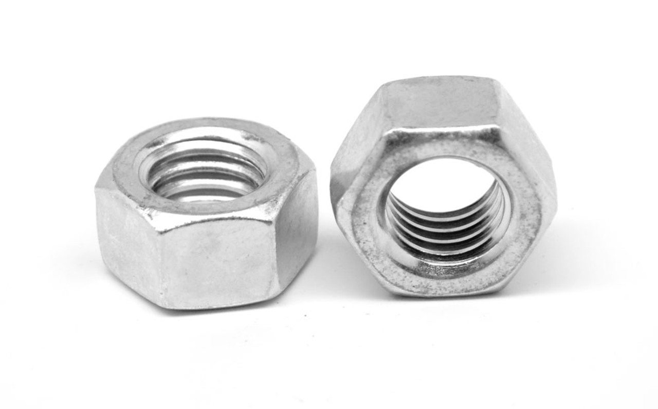 "1""-14 UNS Thread Grade 5 Finished Hex Nut Medium Carbon Steel Zinc Plated"