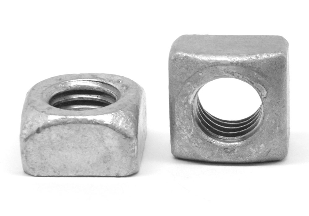 "1""-8 Coarse Thread Grade 2 Regular Square Nut Low Carbon Steel Hot Dip Galvanized"