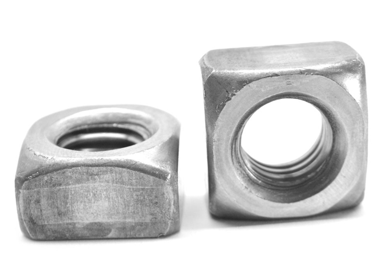 "1 1/8""-7 Coarse Thread Grade 2 Regular Square Nut Low Carbon Steel Plain Finish"