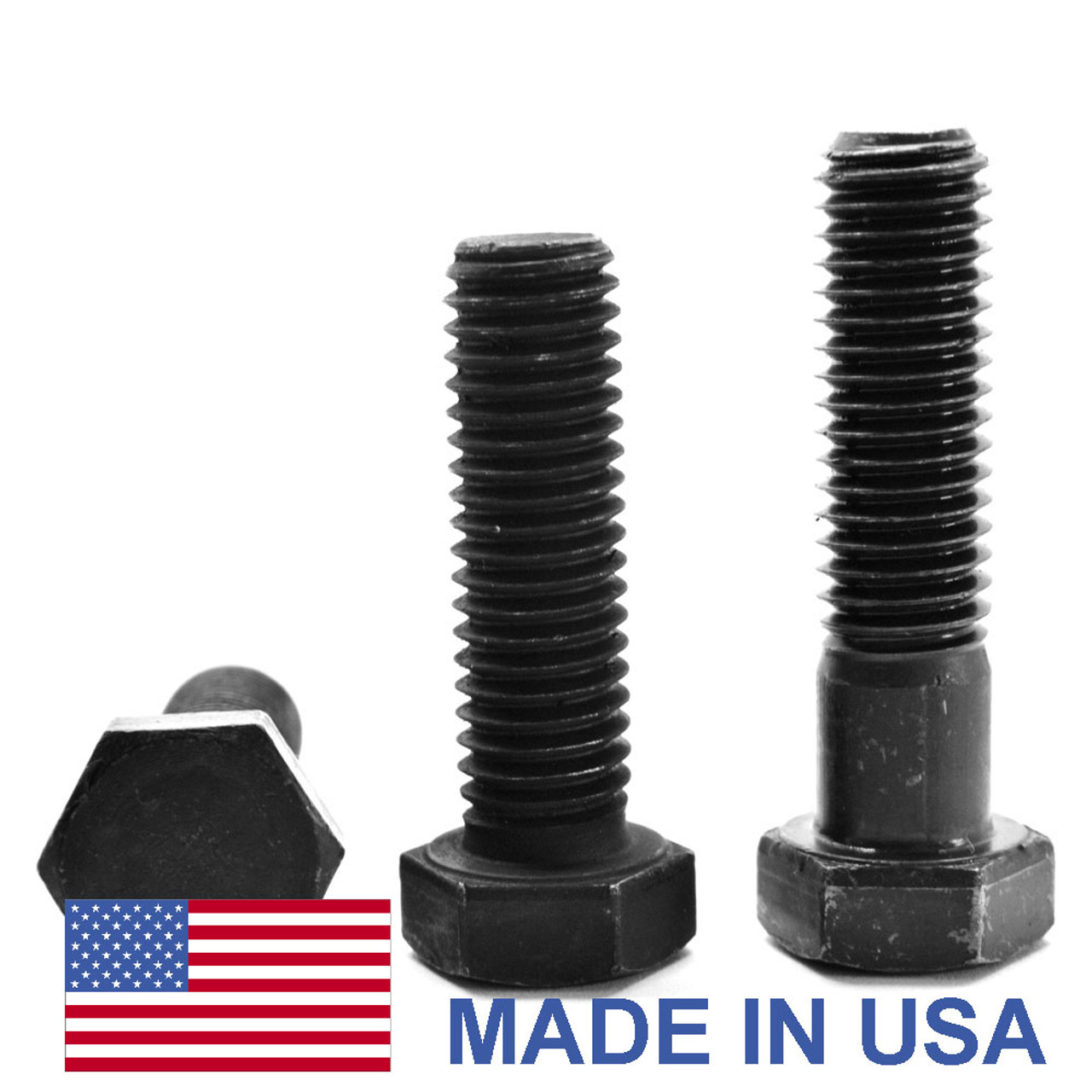 "1 1/4""-7 x 2 1/4"" (FT) Coarse Thread Grade A325 Type 1 Heavy Hex Structural Bolt - USA Medium Carbon Steel Plain Finish"