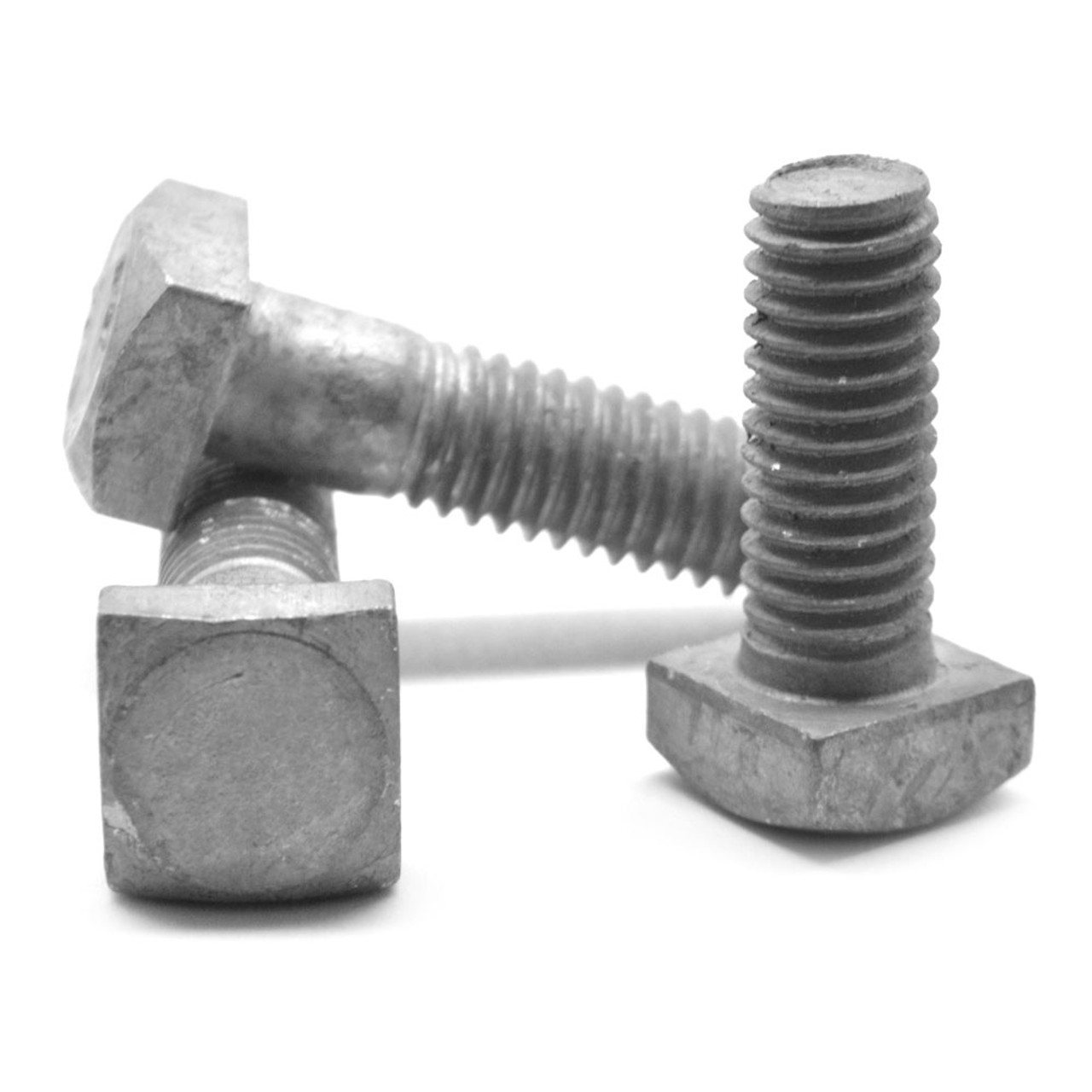 "1""-8 x 12"" A307 Grade A Square Head Machine Bolt Low Carbon Steel Hot Dip Galvanized"
