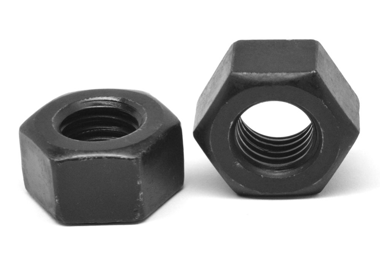 "2 1/2""-8 8UN Thread A194 Grade 2H Heavy Hex Nut Medium Carbon Steel Black Oxide"