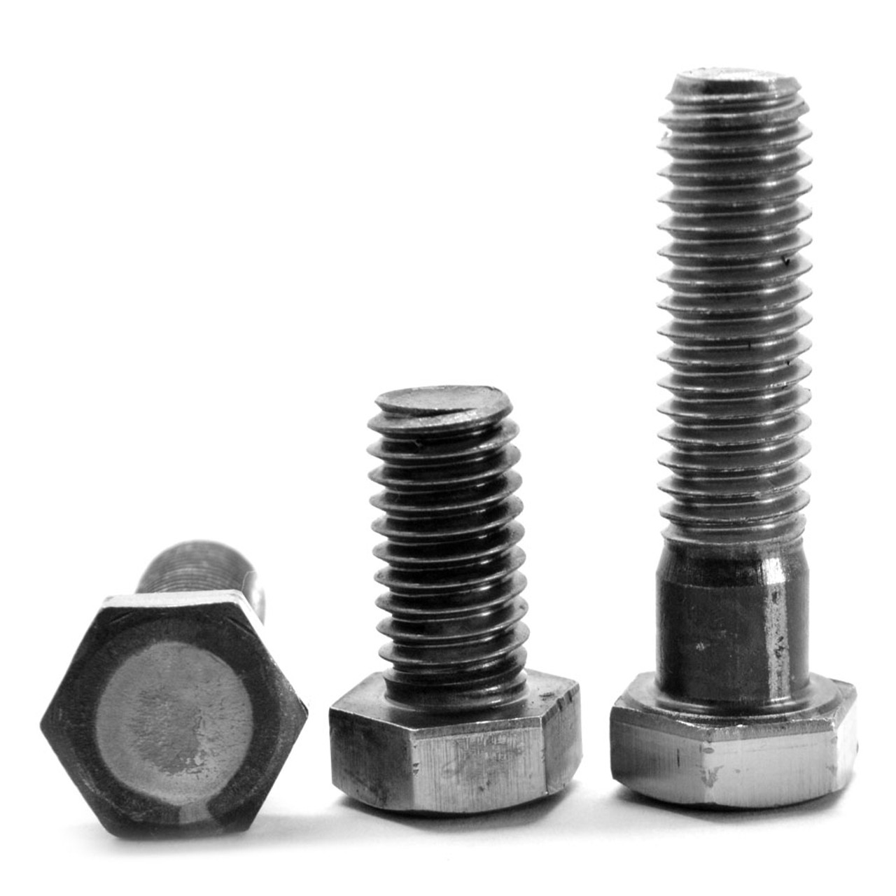 "1 1/2""-6 x 10"" (PT) Coarse Thread A307 Grade A Hex Bolt Low Carbon Steel Plain Finish"
