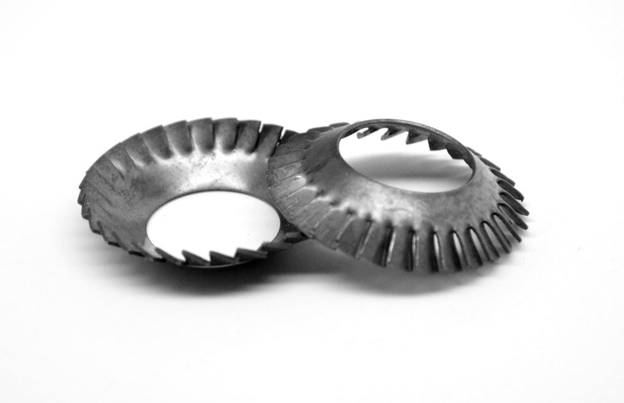 M16 DIN 6798V External Tooth Serrated Counterusnk Lockwasher Medium Carbon Steel Black Oxide