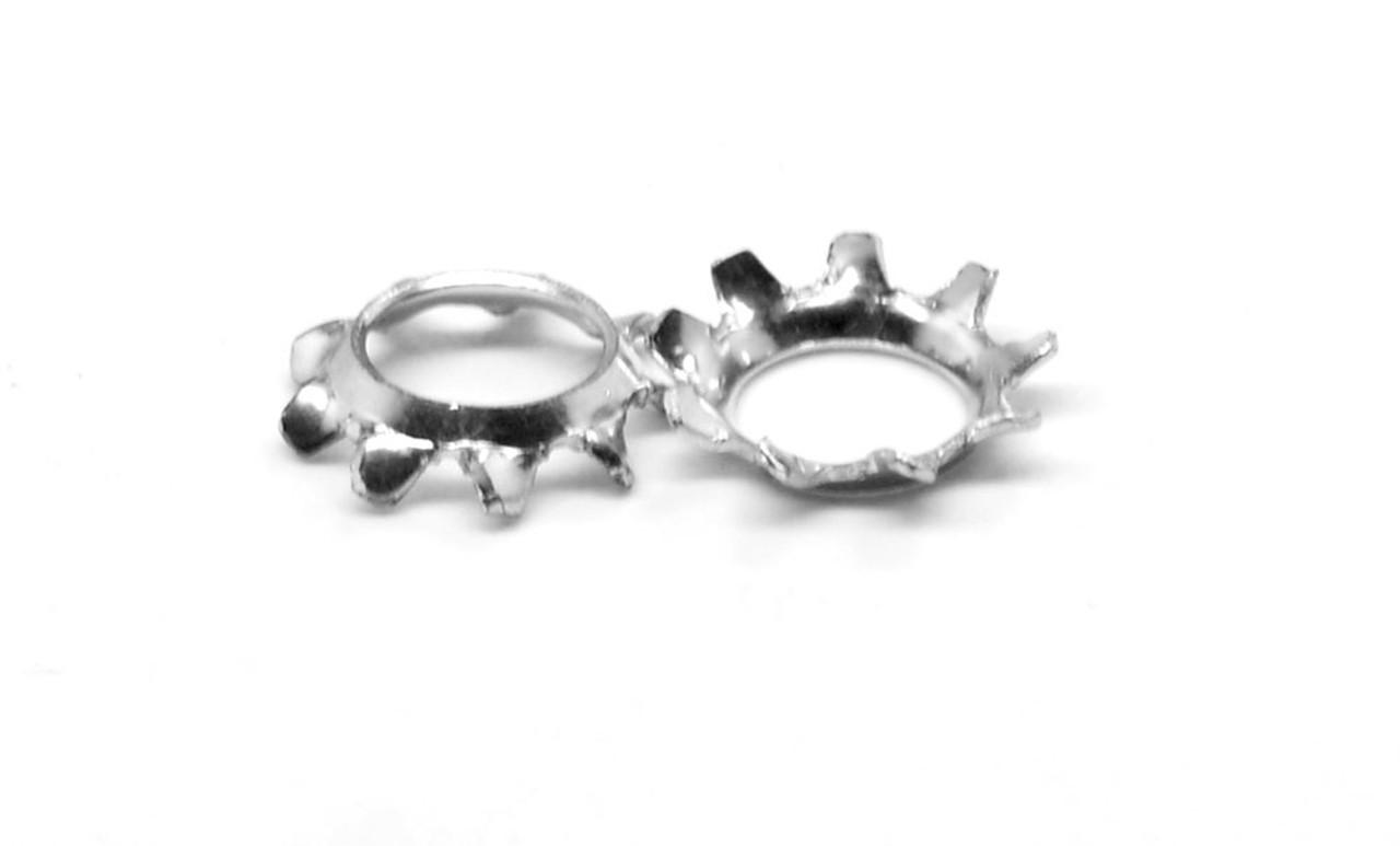 #12 Countersunk External Tooth Lockwasher Medium Carbon Steel Zinc Plated