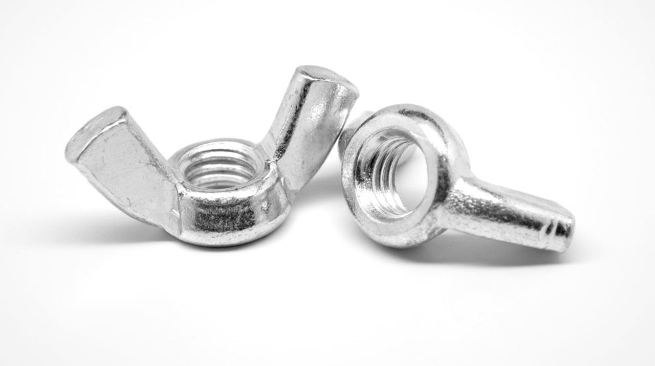 3/8-16 Coarse Thread Forged Wing Nut Low Carbon Steel Nickel Plated